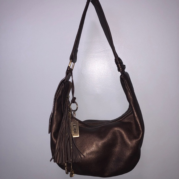 be6bf6ed840 Bags   Leather Bronze Shoulder Bag   Poshmark